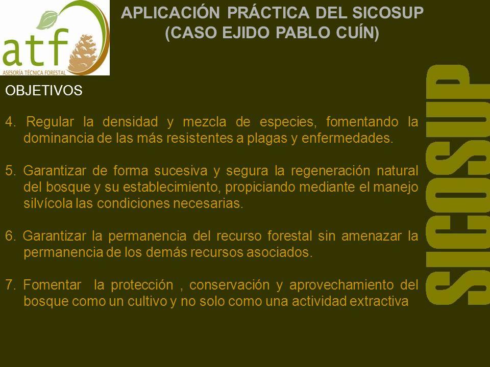APLICACIÓN PRÁCTICA DEL SICOSUP (CASO EJIDO PABLO CUÍN) OBJETIVOS 4.