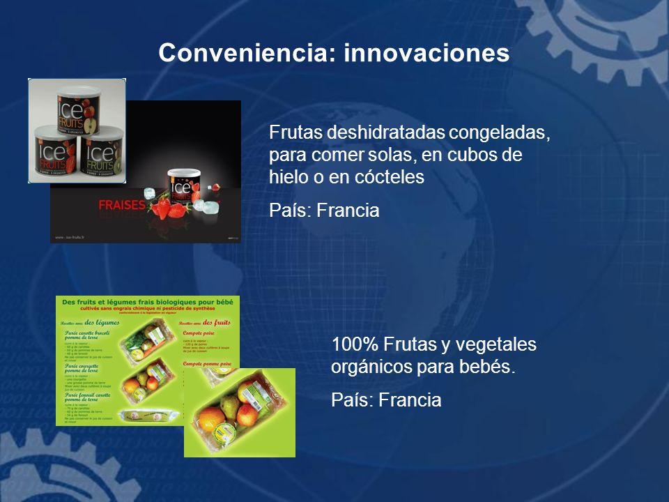Conveniencia: innovaciones Frutas deshidratadas congeladas, para comer solas, en cubos de hielo o en cócteles País: Francia 100% Frutas y vegetales or