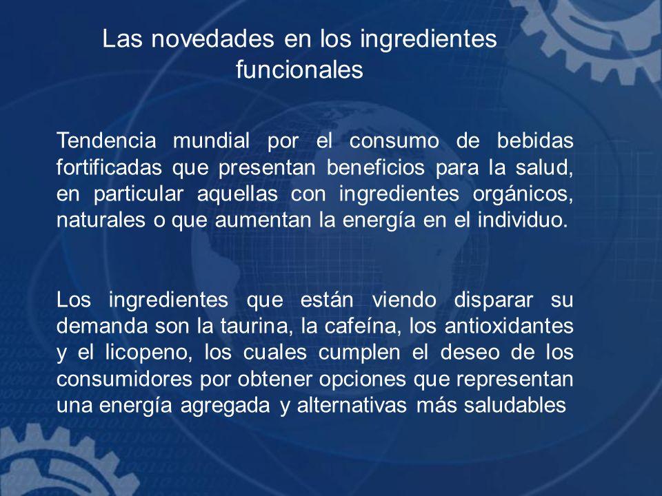 Las novedades en los ingredientes funcionales Tendencia mundial por el consumo de bebidas fortificadas que presentan beneficios para la salud, en part