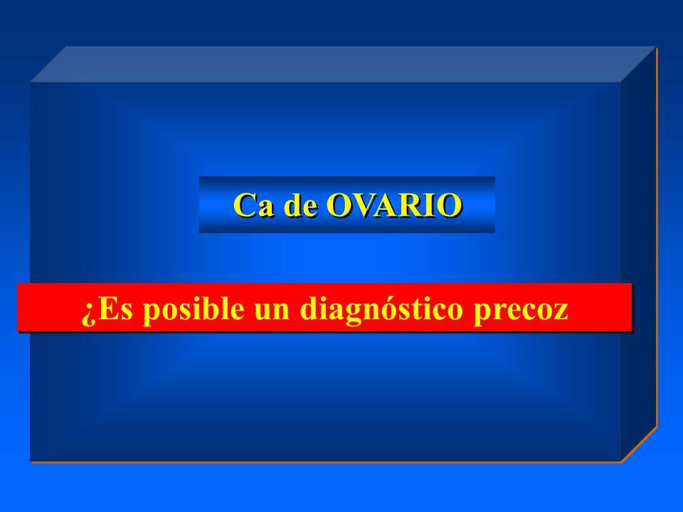 ¿Es posible un diagnóstico precoz Ca de OVARIO
