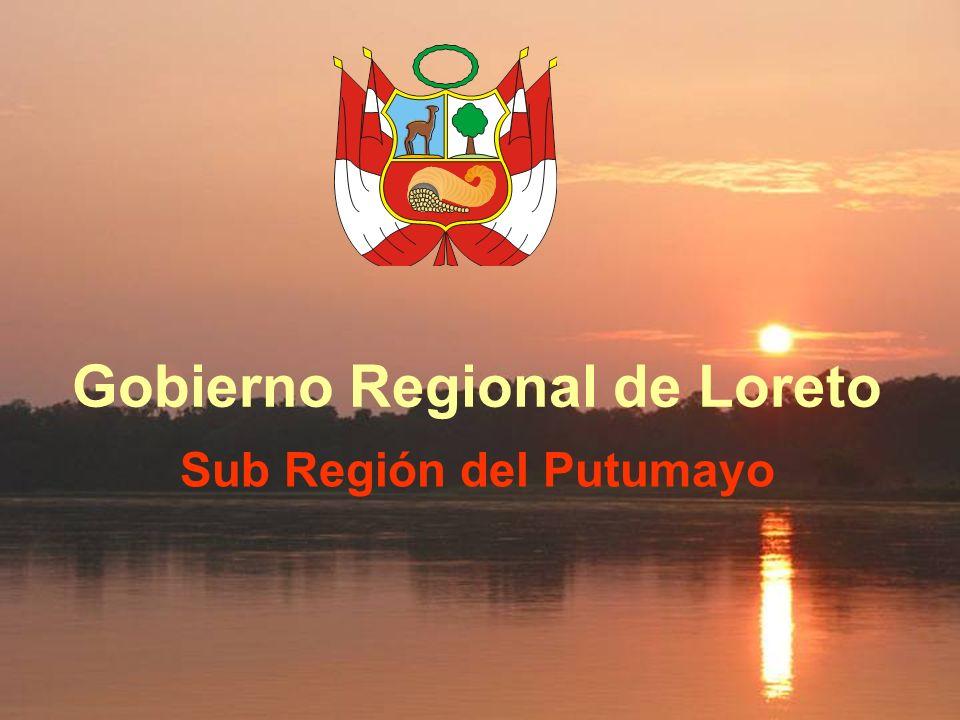Sub Región del Putumayo El Estrecho Bajo Putumayo Alto Putumayo