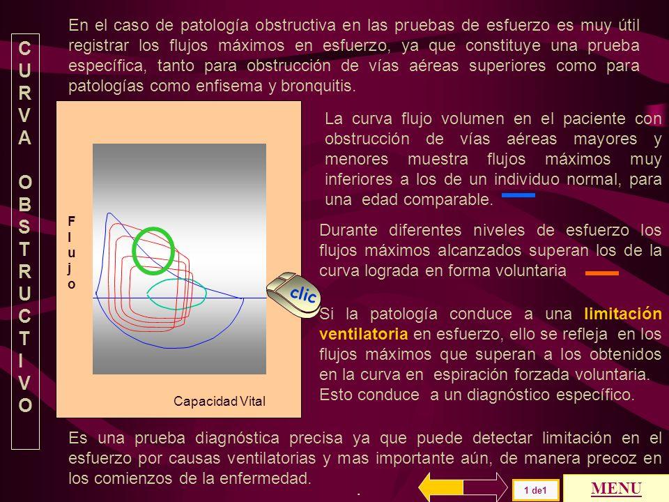 Capacidad Vital FlujoFlujo El individuo anciano normal tiene una curva con flujos espiratorios reducidos y presenta una respuesta disminuida en esfuer