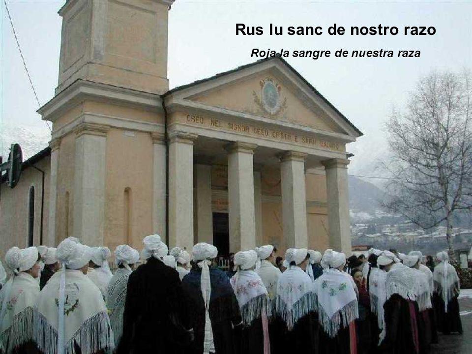Rus lu sanc de nostro razo Roja la sangre de nuestra raza