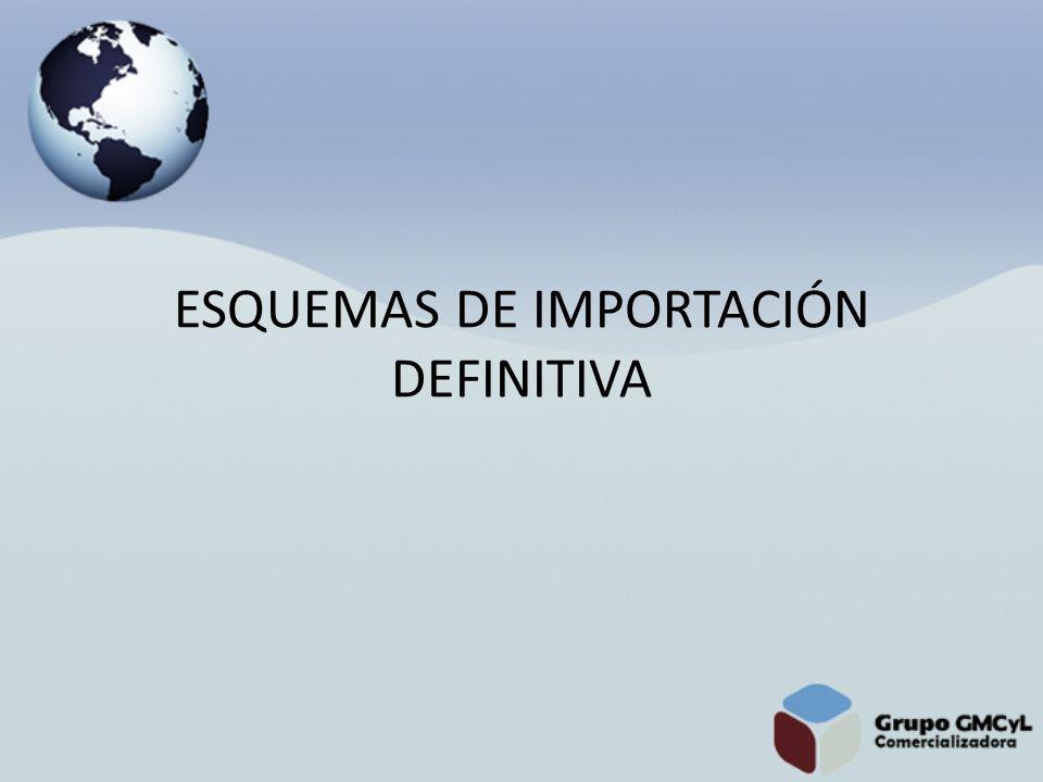ESQUEMAS DE IMPORTACIÓN DEFINITIVA