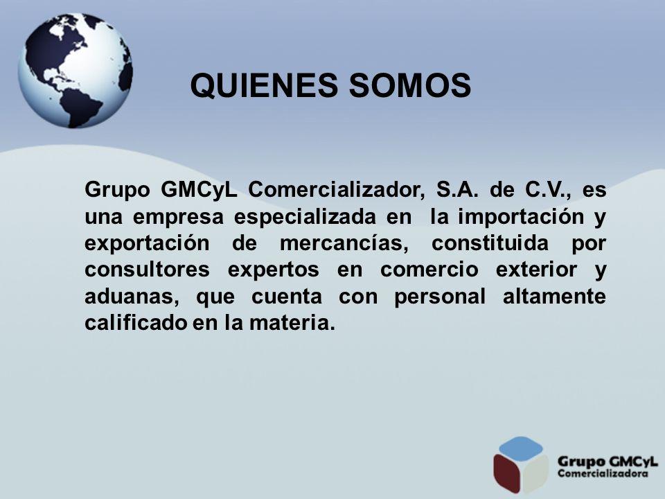 Grupo GMCyL Comercializador, S.A. de C.V., es una empresa especializada en la importación y exportación de mercancías, constituida por consultores exp