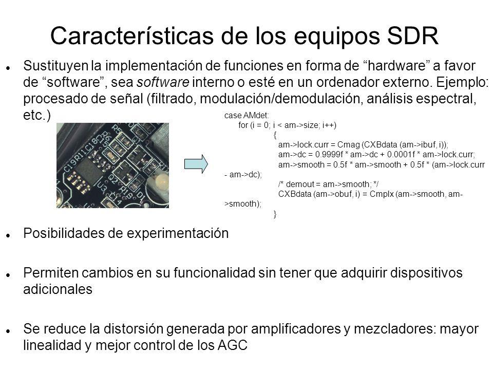 Receptor SDR de digitalización directa: QuickSilver QS1R QS1R SDRMAX + QS1RServer USB 2.0 Audio recibido (no utiliza tarjeta de sonido) 0,01 a 62,5 MHz 16 bits, 130 MHz Entrada de banda ancha para recepción por submuestreo hasta 500 MHz (RevC)