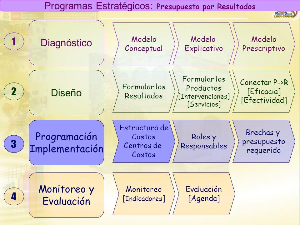 Diagnóstico Diseño Programación Implementación 1 2 3 Modelo Conceptual Modelo Explicativo Modelo Prescriptivo Formular los Resultados Formular los Pro