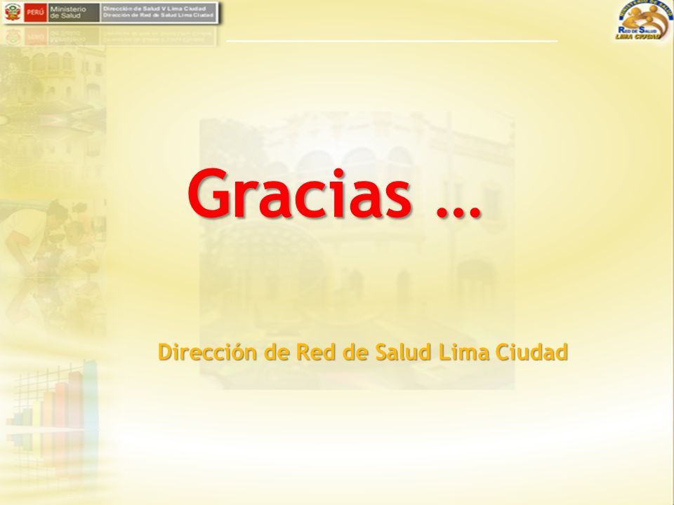 Dirección de Red de Salud Lima Ciudad Gracias …