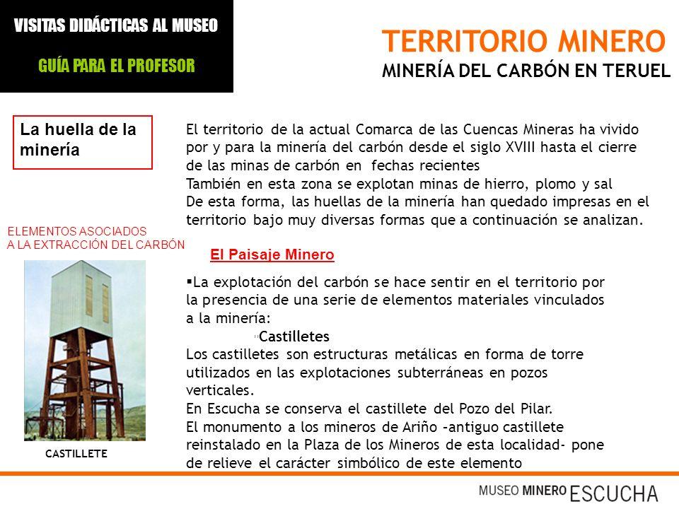 TERRITORIO MINERO MINERÍA DEL CARBÓN EN TERUEL La huella de la minería El territorio de la actual Comarca de las Cuencas Mineras ha vivido por y para