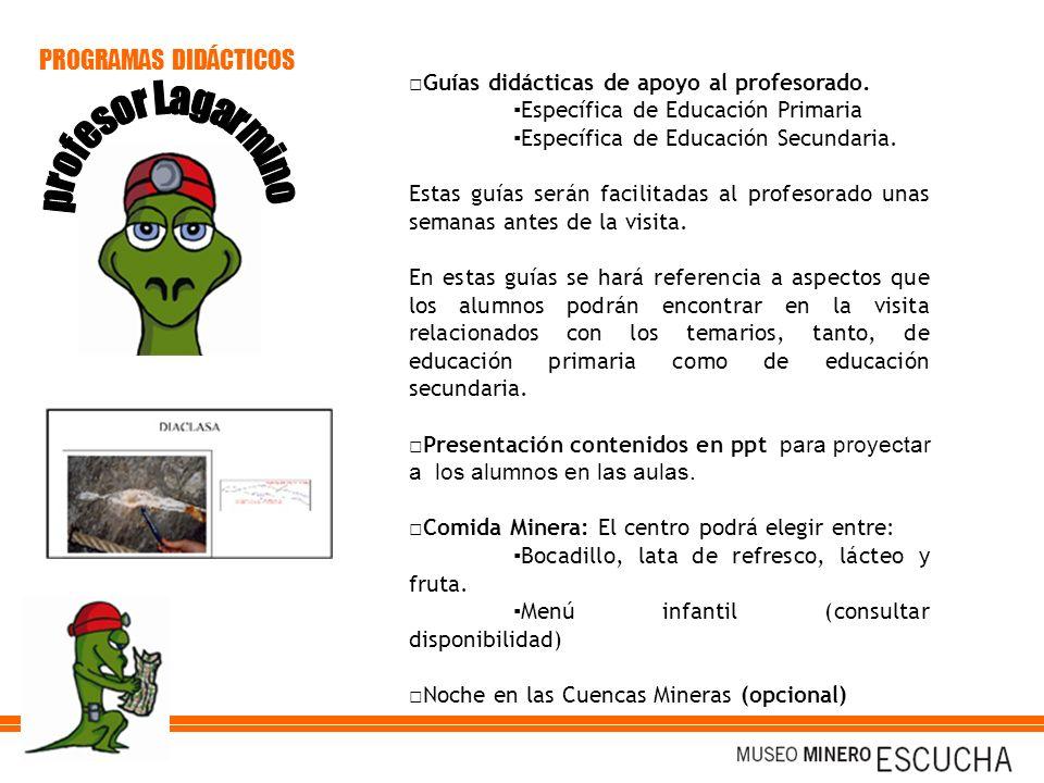 Guías didácticas de apoyo al profesorado. Específica de Educación Primaria Específica de Educación Secundaria. Estas guías serán facilitadas al profes