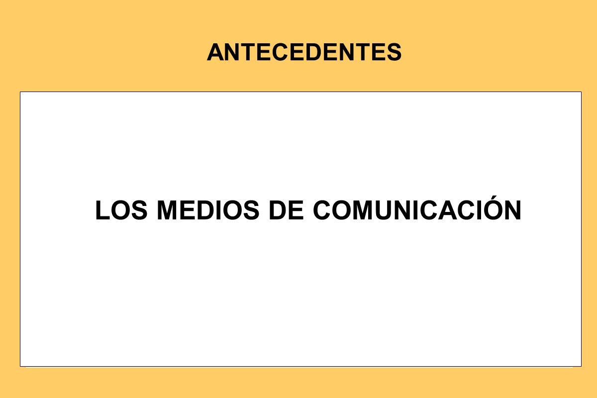 LOS MEDIOS DE COMUNICACIÓN ANTECEDENTES