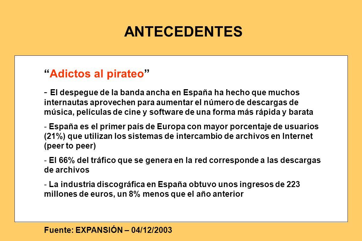 Adictos al pirateo - El despegue de la banda ancha en España ha hecho que muchos internautas aprovechen para aumentar el número de descargas de música