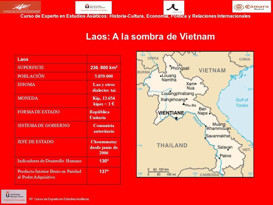 R 3. Curso de Experto en Estudios Asiáticos. Laos SUPERFICIE 236.
