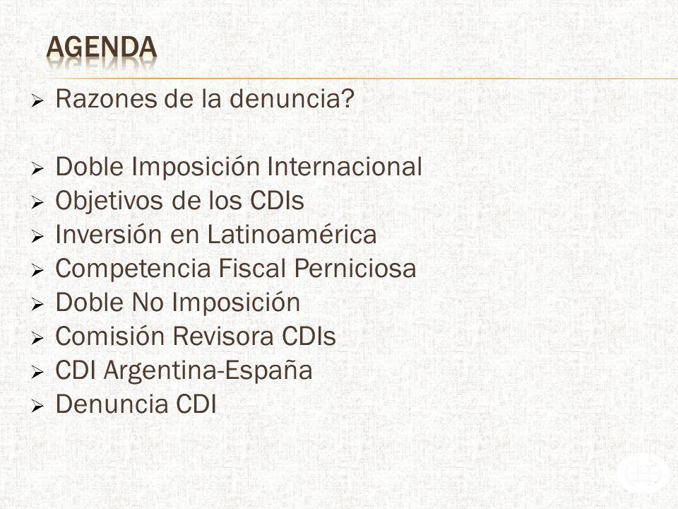 Doble no imposición – Impuesto Patrimonial ARGENTINA: IGMP: acciones argentinas en poder residentes españoles no aplica.