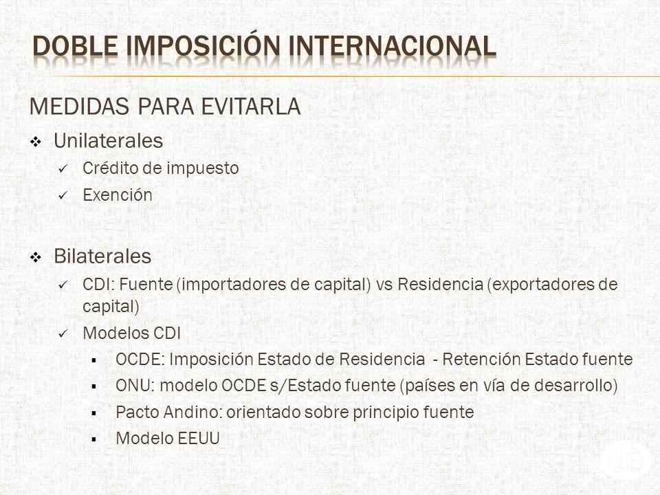 Evitar la doble imposición jurídica internacional Prevenir el Fraude, la elusión y la Evasión Fiscal Atraer inversiones Se pasa del modelo import-export de bienes y servicios al modelo de inversión directa en el exterior