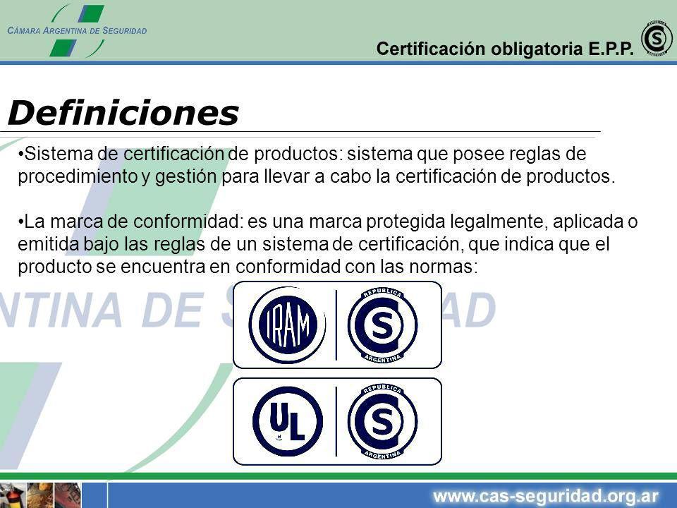Sistema de certificación de productos: sistema que posee reglas de procedimiento y gestión para llevar a cabo la certificación de productos. La marca