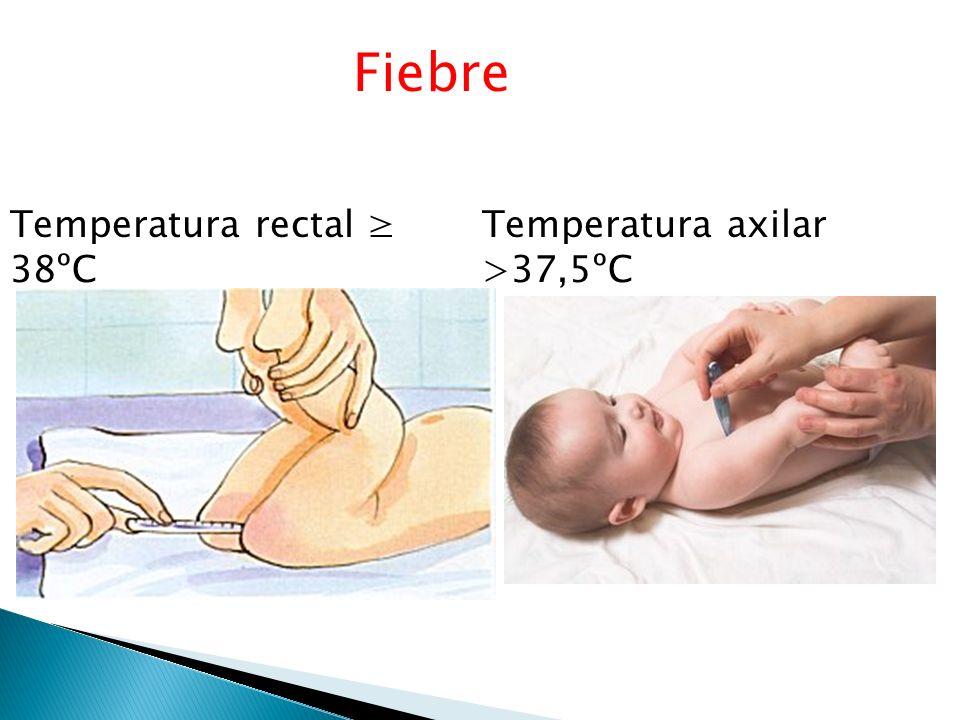 Niños de < 3 meses de edad con fiebre sin foco Recien nacido término (< 37 ).