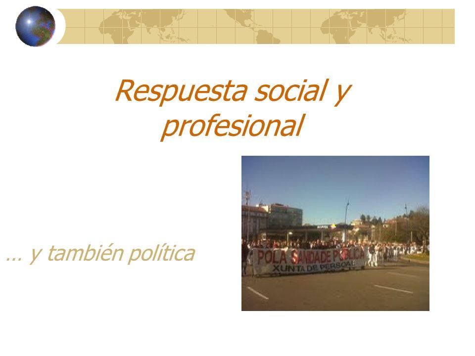 … y también política Respuesta social y profesional