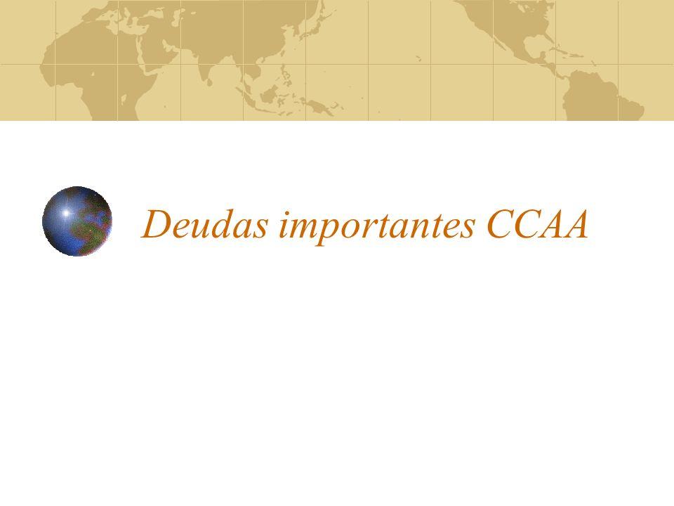 Deudas importantes CCAA