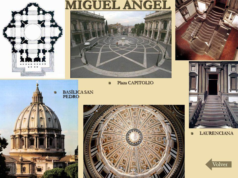 MIGUEL ÁNGEL LAURENCIANA LAURENCIANA Plaza CAPITOLIO Plaza CAPITOLIO BASÍLICA SAN PEDRO BASÍLICA SAN PEDRO