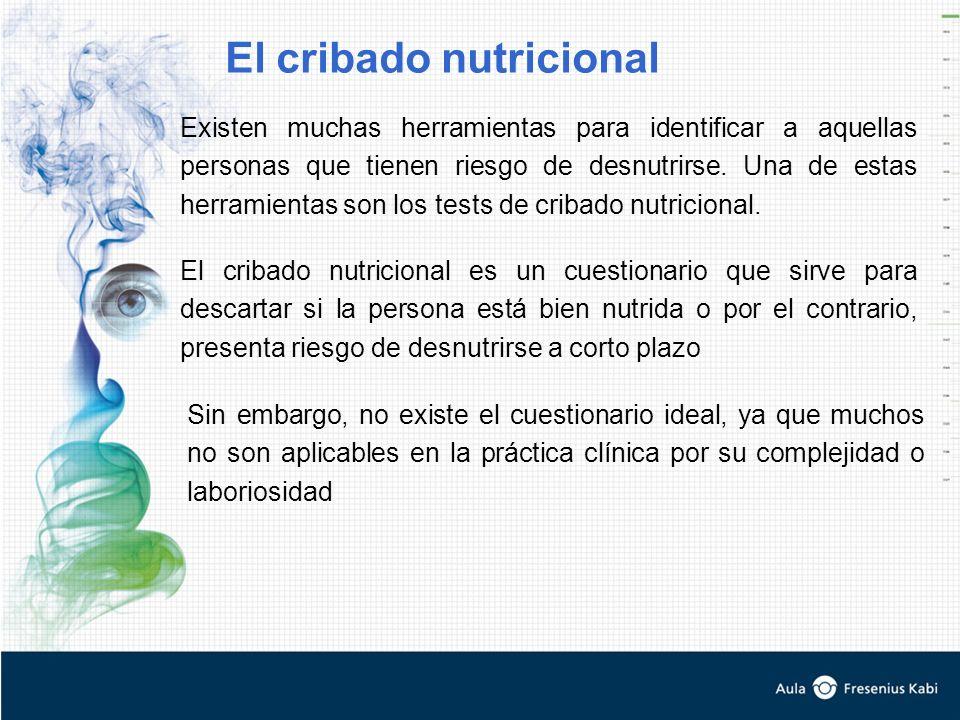 Existen muchas herramientas para identificar a aquellas personas que tienen riesgo de desnutrirse.