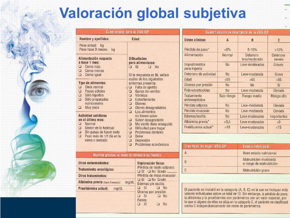 Valoración global subjetiva