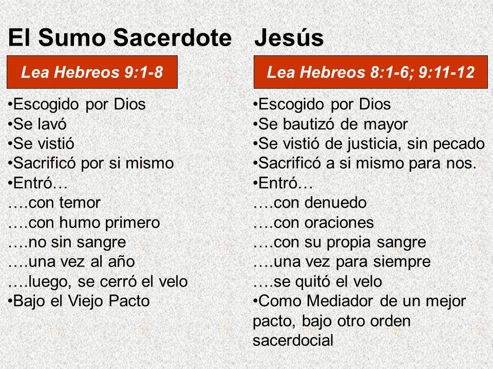 Escogido por Dios Se bautizó de mayor Se vistió de justicia, sin pecado Sacrificó a si mismo para nos. Entró… ….con denuedo ….con oraciones ….con su p