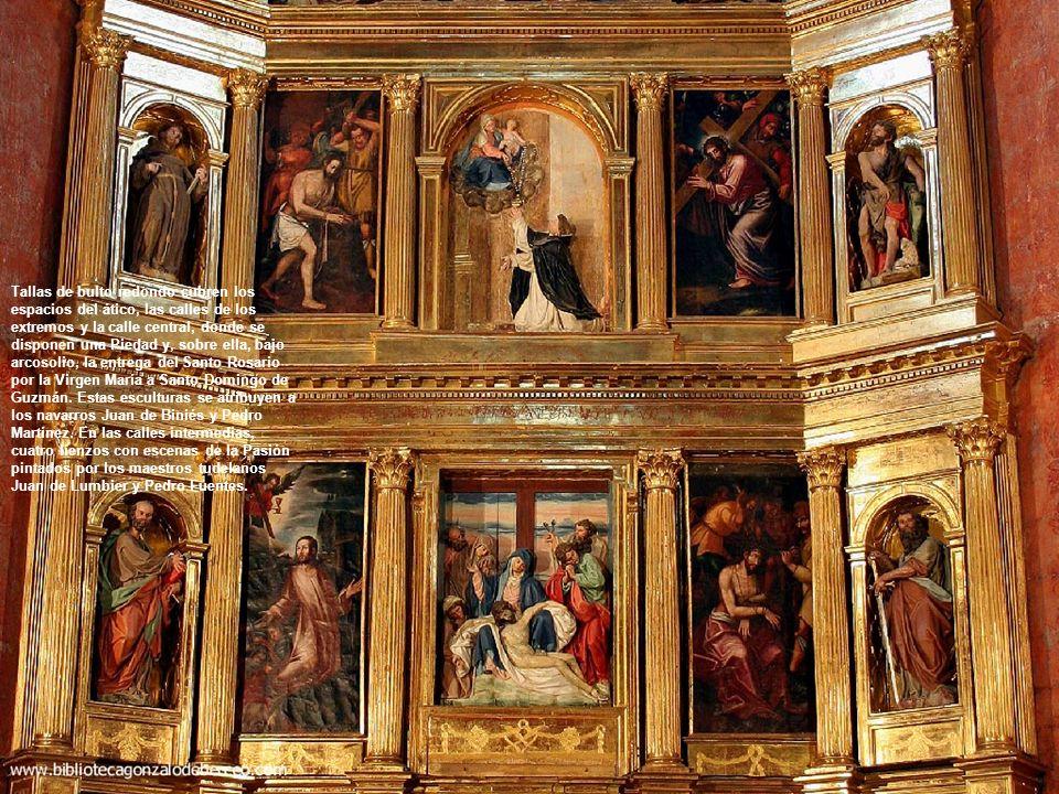 Retablo mayor, realizado en estilo barroco clasicista hacia 1621 por el artista vallisoletano Juan de Garay.