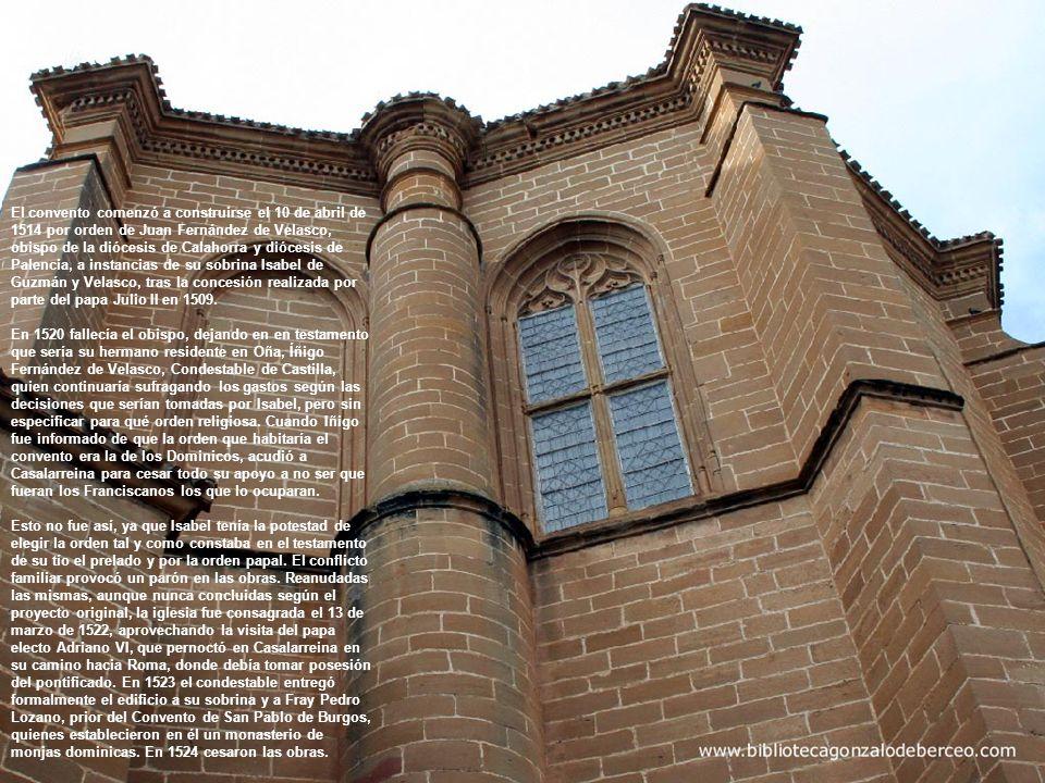MONASTERIO DE LA PIEDAD CASALARREINA Biblioteca Gonzalo de Berceo un retablo al aire libre Portada de la iglesia, abierta en el tercer tramo de la nave del Evangelio (septentrional) y ejecutada con arreglo al estilo plateresco.