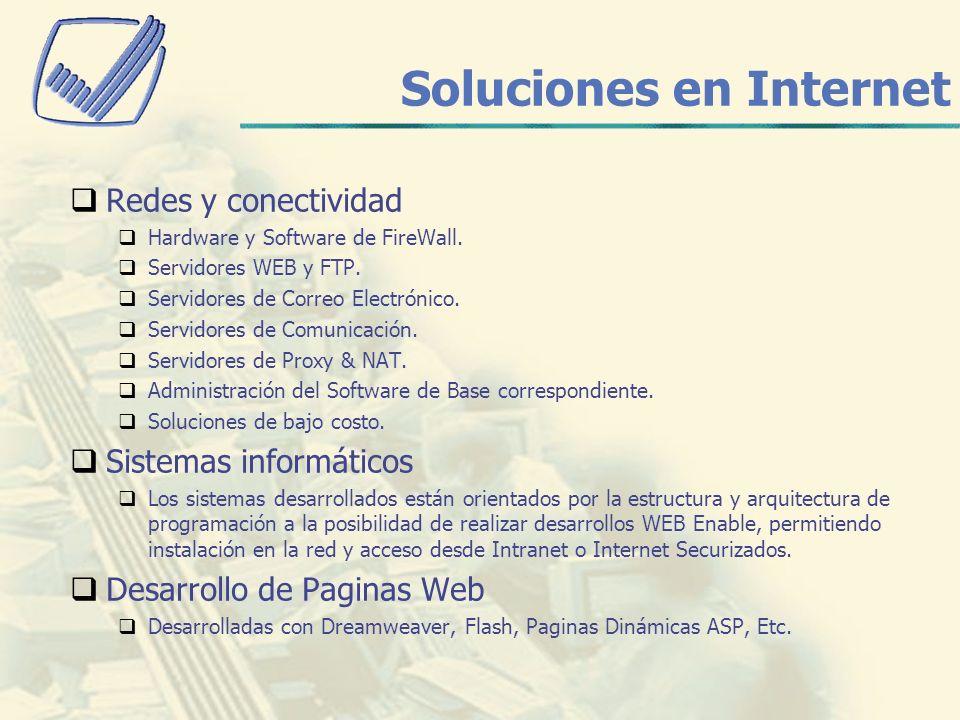 Soluciones en Internet Redes y conectividad Hardware y Software de FireWall.