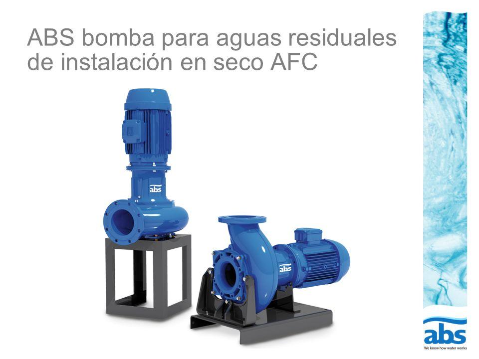 ABS bomba para aguas residuales de instalación en seco AFC