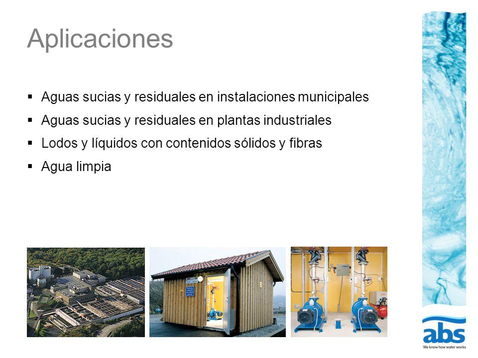 Aplicaciones Aguas sucias y residuales en instalaciones municipales Aguas sucias y residuales en plantas industriales Lodos y líquidos con contenidos