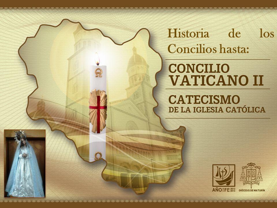 Concilios Ecuménicos La Iglesia ha tenido 21 Concilios Ecuménicos, sin contar el de los Apóstoles en Jerusalén Historia de los Concilios hasta: