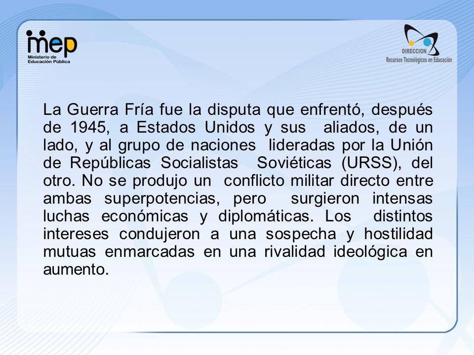 En 1962 surgió una grave crisis cuando la URSS instaló misiles en Cuba, por aquellos años su nuevo aliado.