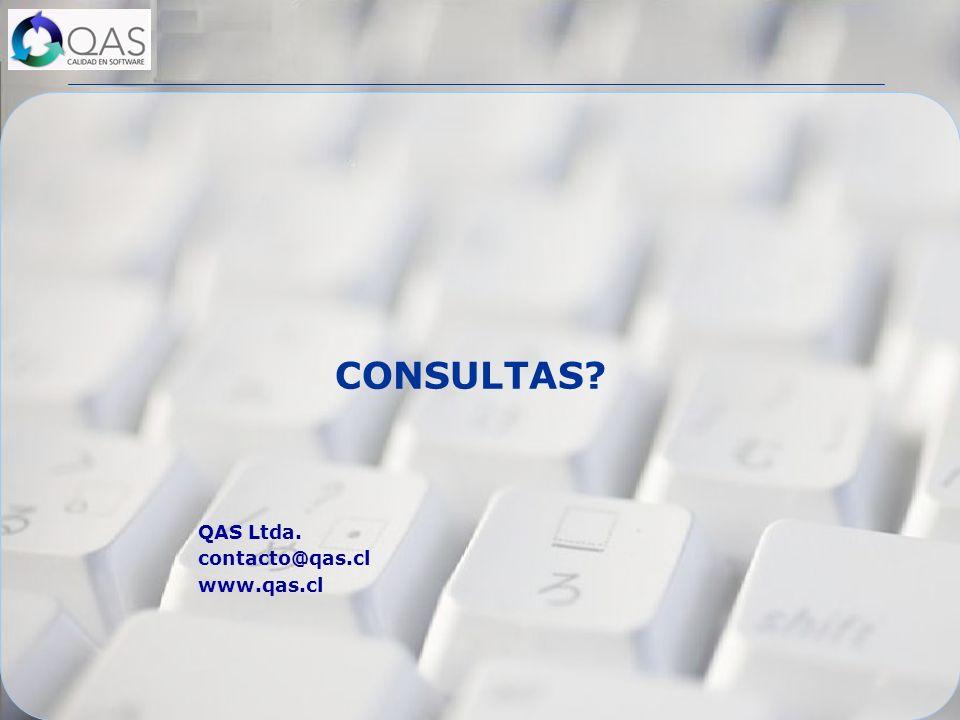 CONSULTAS? QAS Ltda. contacto@qas.cl www.qas.cl