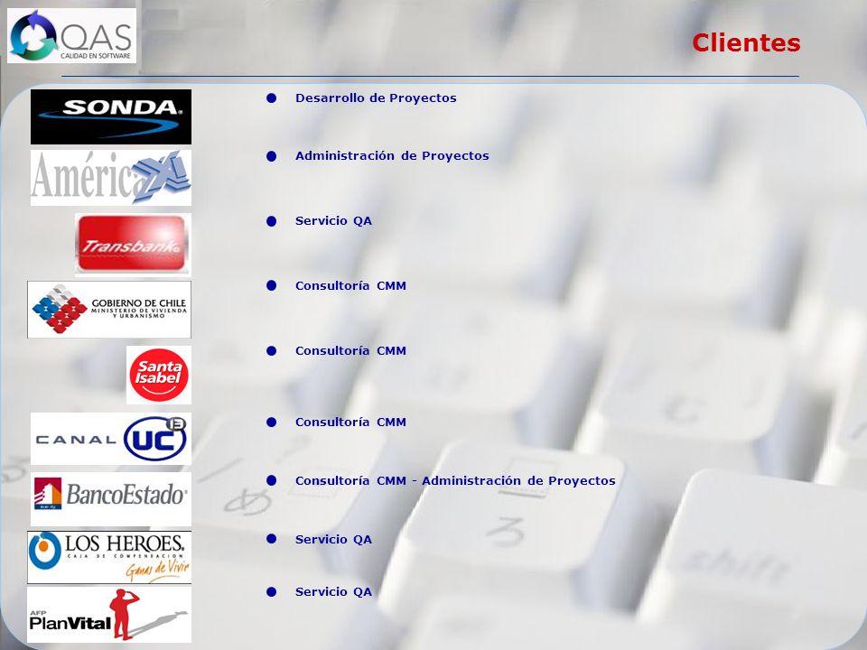 Servicio QA Desarrollo de Proyectos Servicio QA Administración de Proyectos Consultoría CMM Consultoría CMM - Administración de Proyectos Consultoría