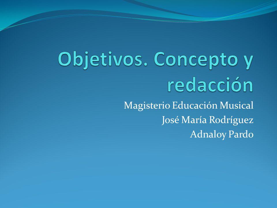 Magisterio Educación Musical José María Rodríguez Adnaloy Pardo