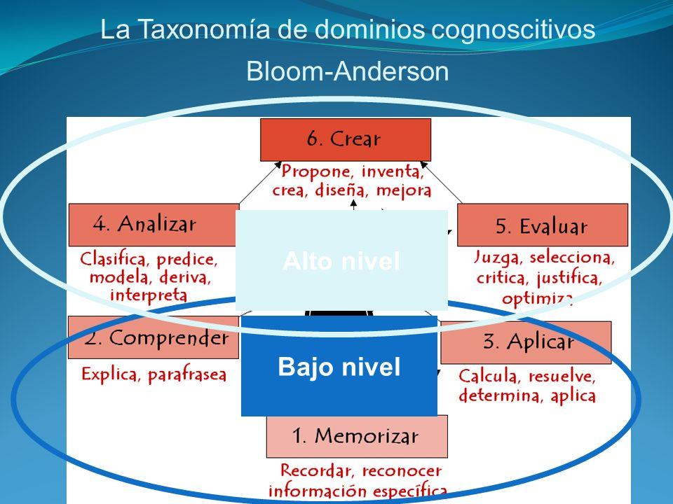 Usos de la taxonomía de Bloom -Anderson Cuando el/la maestro/a redacta los objetivos en su plan, toma en consideración estos niveles cognoscitivos para asegurarse variedad en los tipos de niveles cognoscitivos a los que pone a trabajar a sus estudiantes.