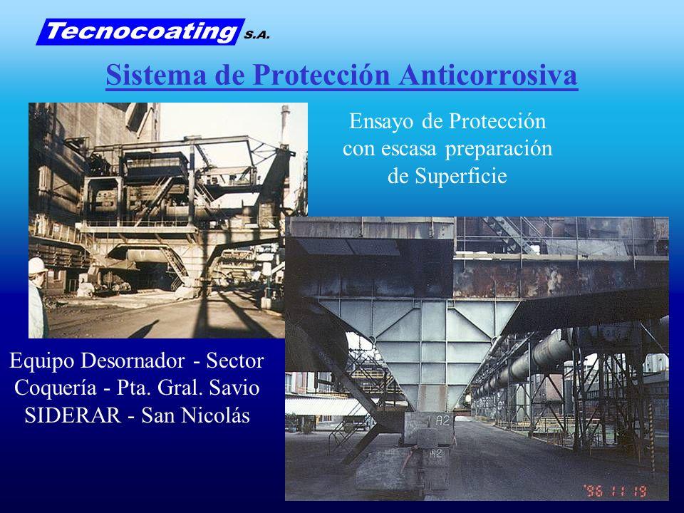 Sistema de Protección Anticorrosiva Ensayo de Protección con escasa preparación de Superficie Equipo Desornador - Sector Coquería - Pta. Gral. Savio S