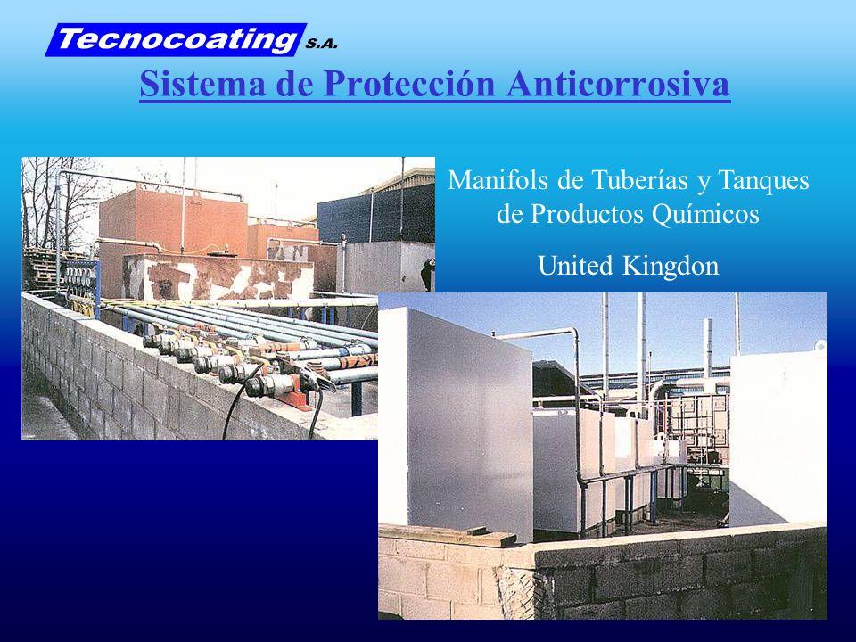 Sistema de Protección Anticorrosiva Manifols de Tuberías y Tanques de Productos Químicos United Kingdon