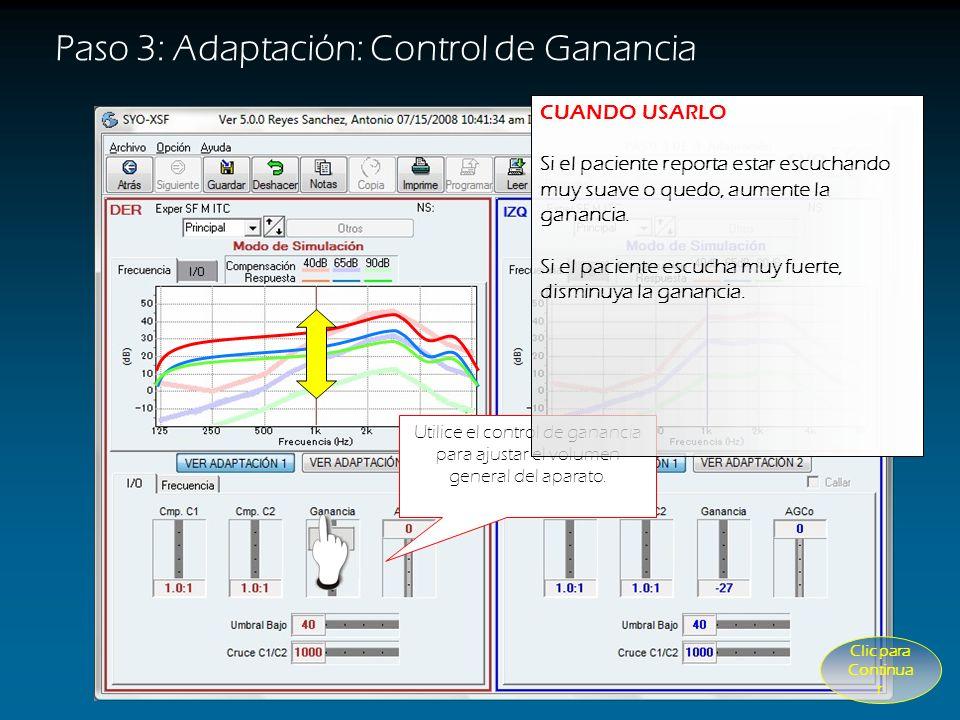 Paso 3: Adaptación Utilice los controles para aproximar las curvas de respuesta a las líneas del fondo
