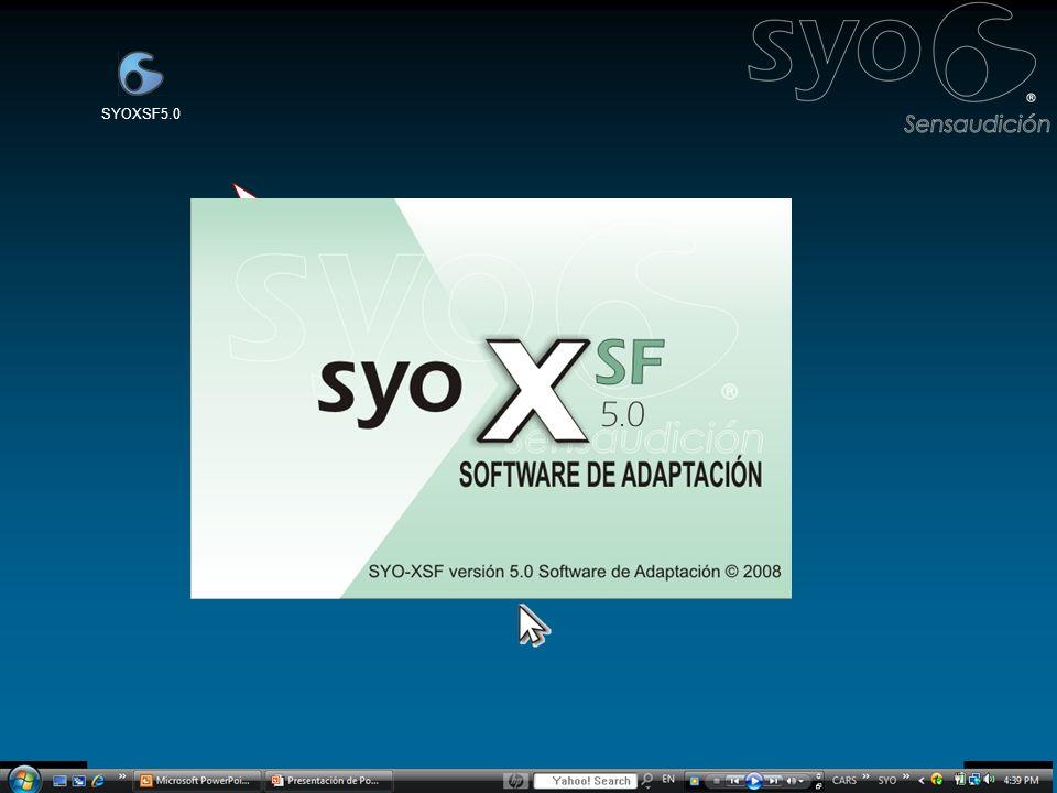 Adaptación profesional con Esta presentación le mostrará como utilizar el Software SYO-XSF para adaptar productos SYO de forma efectiva en 3 pasos muy