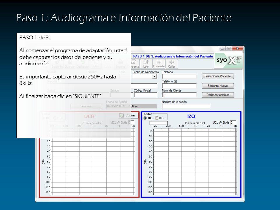 SYOXSF5.0 Para comenzar: Abra el programa de adaptación haciéndo clic en el ícono de SYOXSF 5.0 localizado en el escritorio de su computadora.