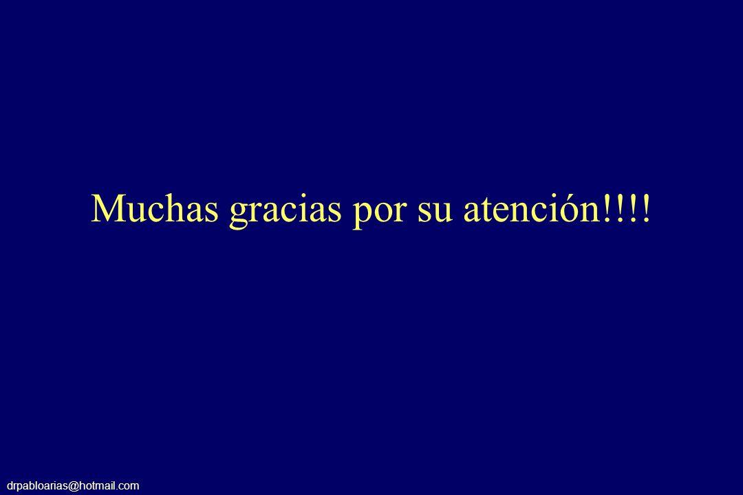 drpabloarias@hotmail.com Muchas gracias por su atención!!!!