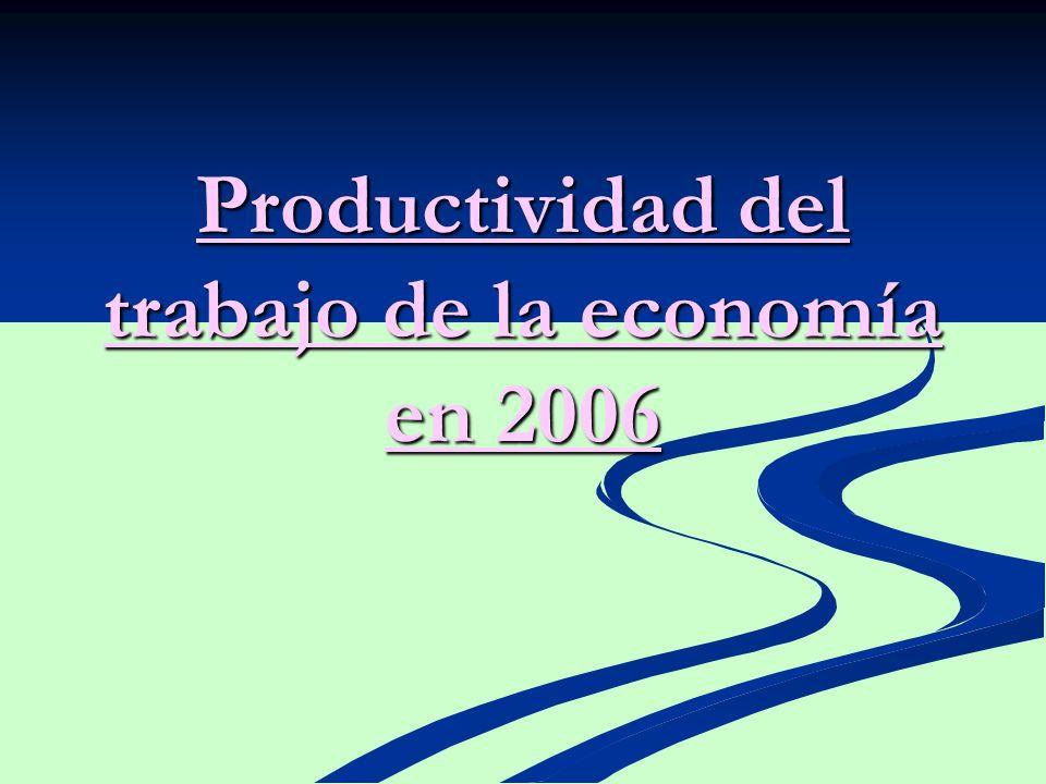 Productividad del trabajo de la economía en 2006