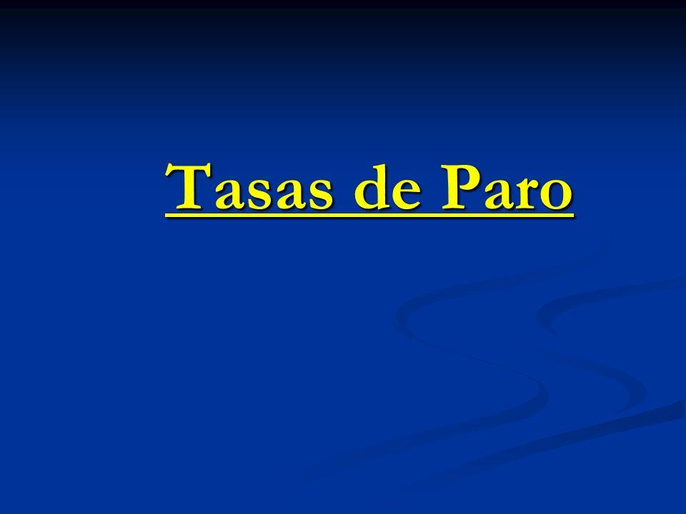 Tasas de Paro