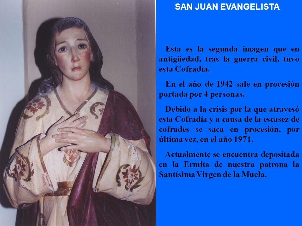 VIRGEN DE LOS DOLORES En los años 1940 a 1942 sale en procesión junto con el Cristo de la Agonía y desde 1943 con la Oración en el Huerto y demás imág