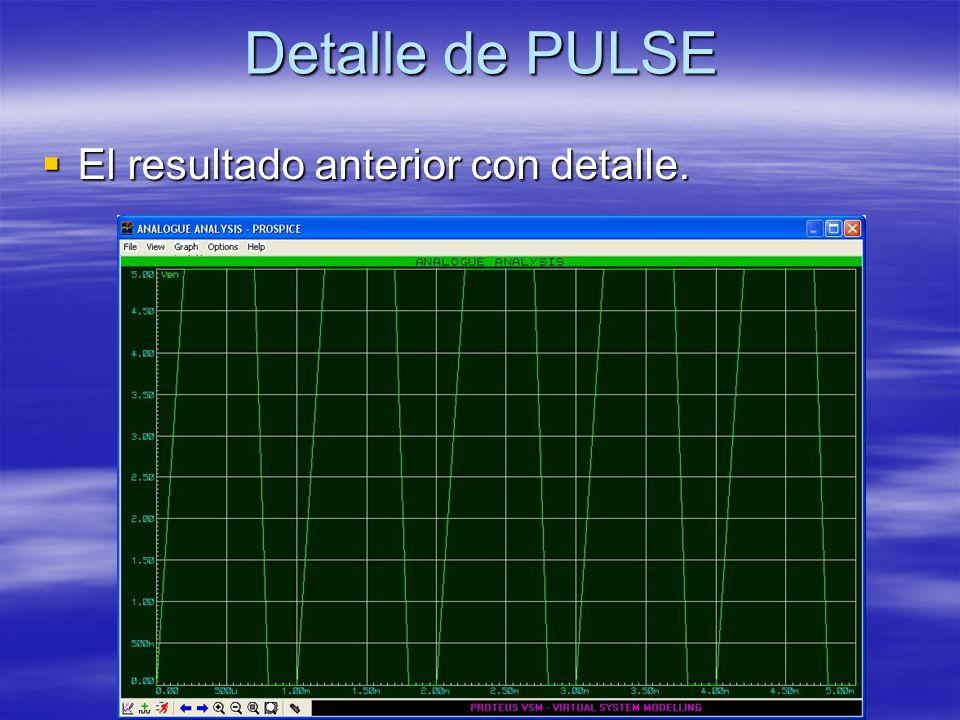 Detalle de PULSE El resultado anterior con detalle. El resultado anterior con detalle.
