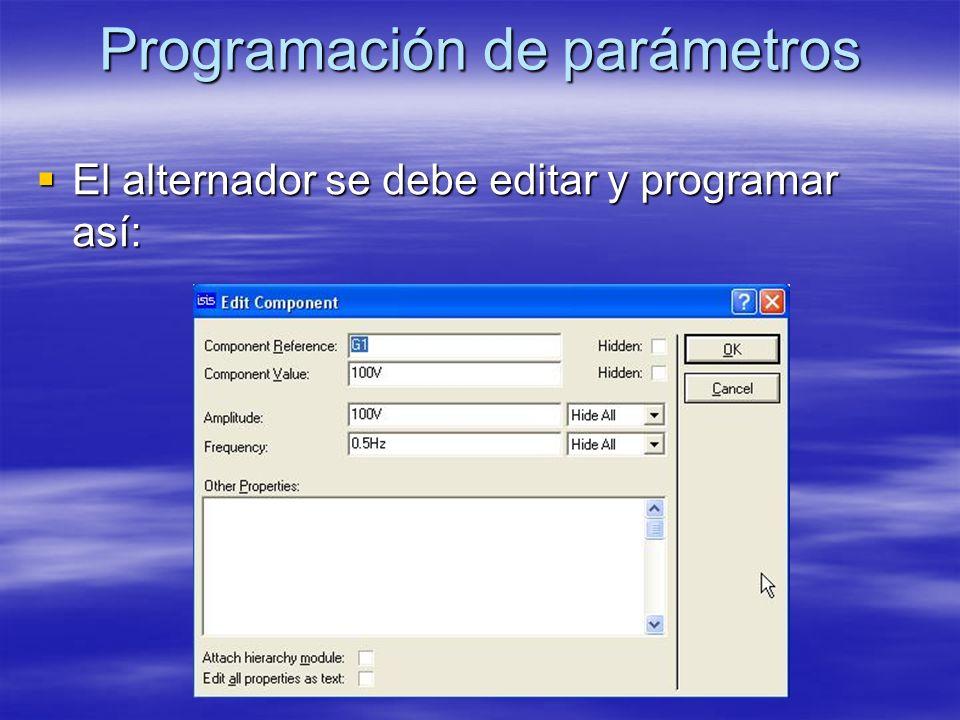 Programación de parámetros El fusible se debe editar y programar asi: El fusible se debe editar y programar asi:
