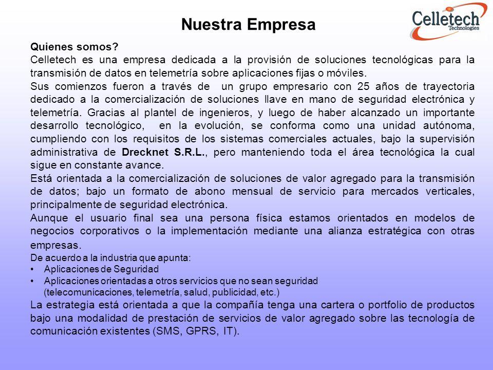 Aplicaciones de Seguridad: Transmisión de reportes de alarmas en forma inalámbrica.
